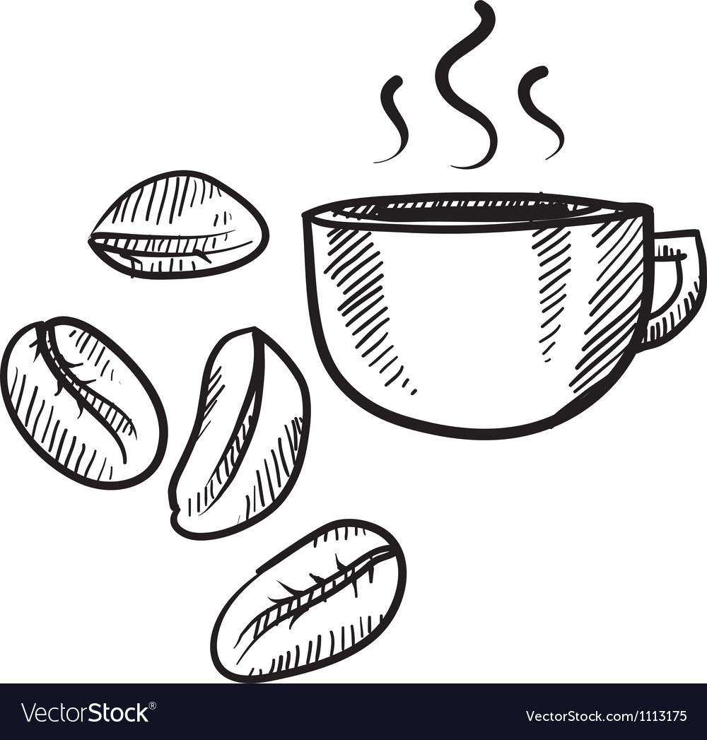 Doodle coffee beans vector | Price: 1 Credit (USD $1)