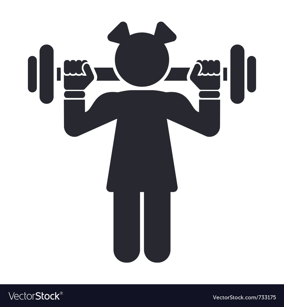 Female gym icon vector | Price: 1 Credit (USD $1)