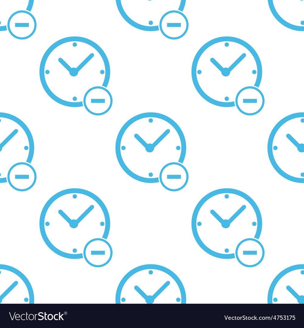 Flat remove time pattern vector | Price: 1 Credit (USD $1)