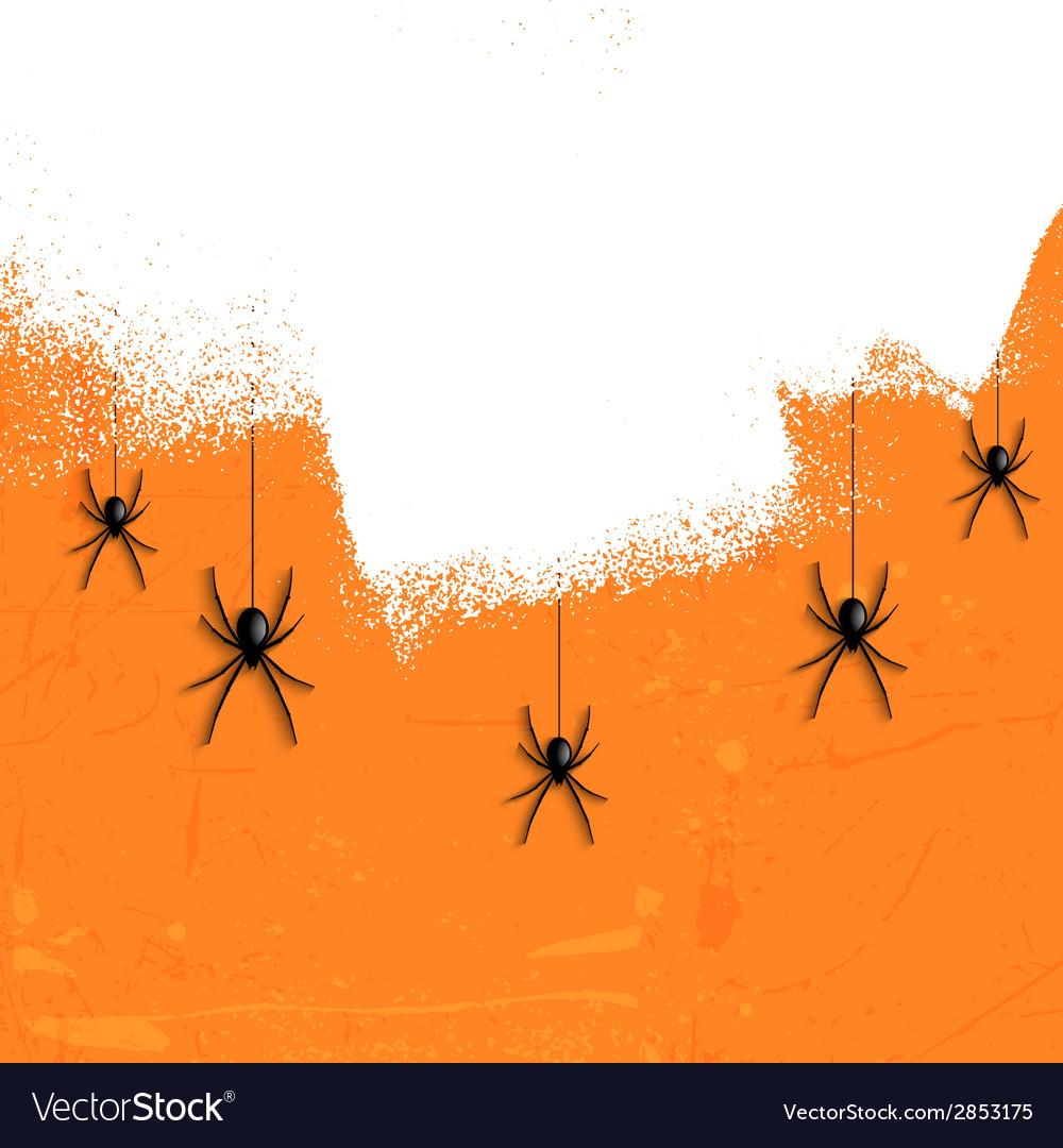 Grunge halloween spiders 2708 vector | Price: 1 Credit (USD $1)