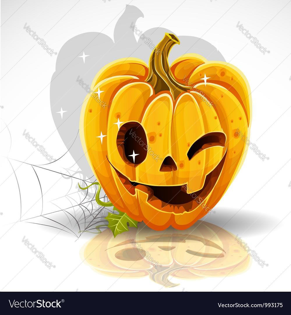 Halloween pumpkin background vector | Price: 1 Credit (USD $1)