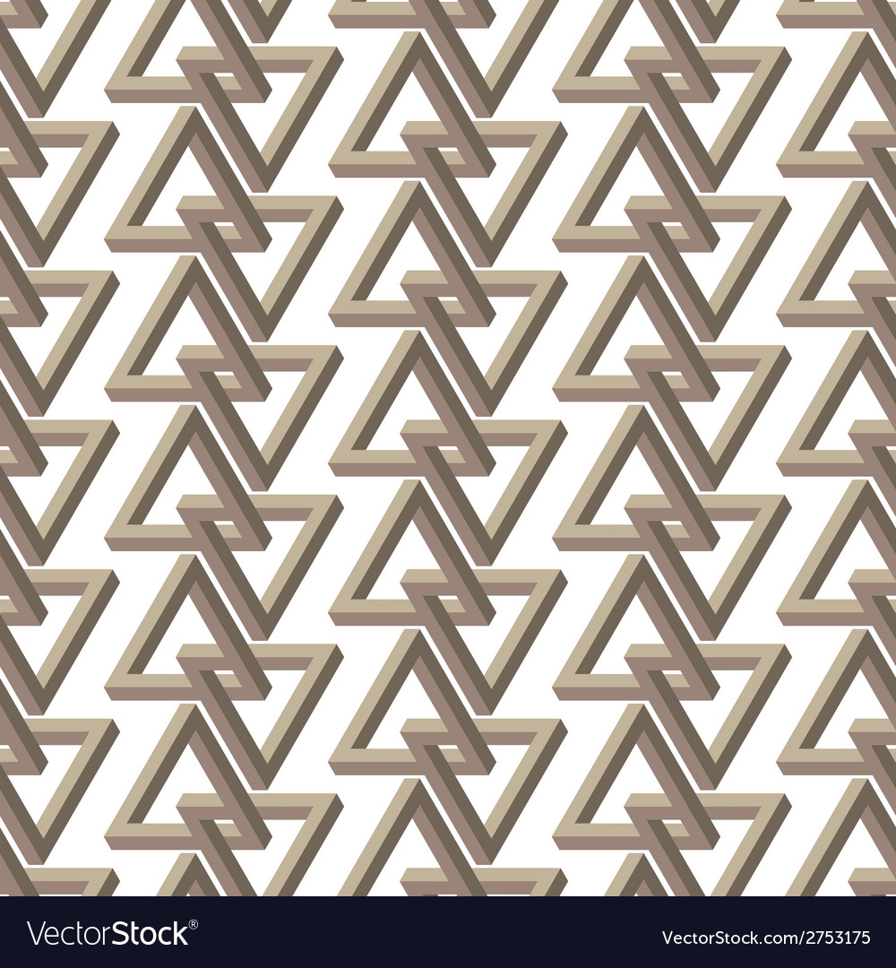 Impossible triangle seamless pattern vector | Price: 1 Credit (USD $1)