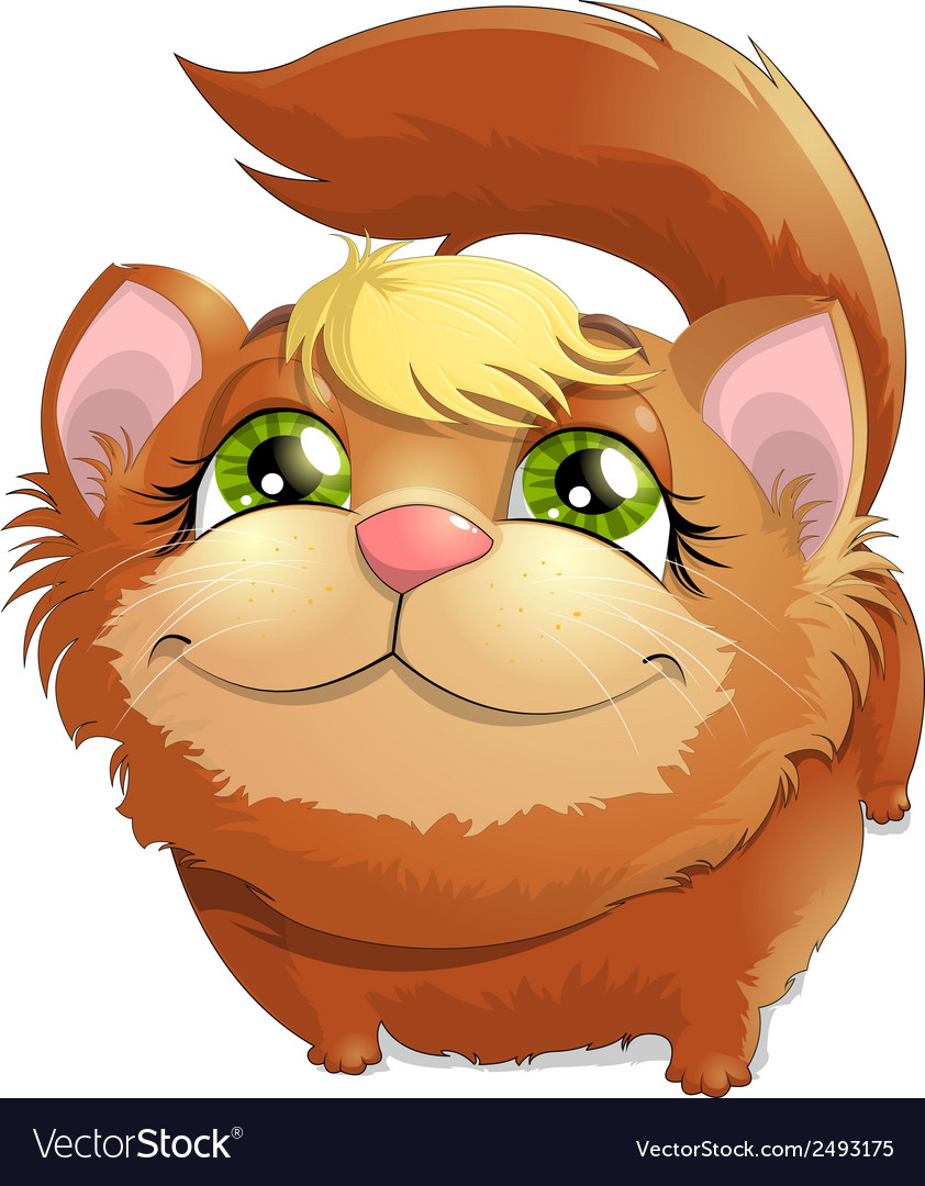 Red cat vector   Price: 1 Credit (USD $1)