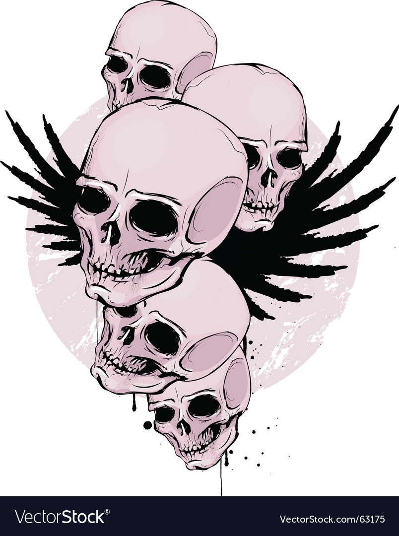 Skulls vector | Price: 3 Credit (USD $3)
