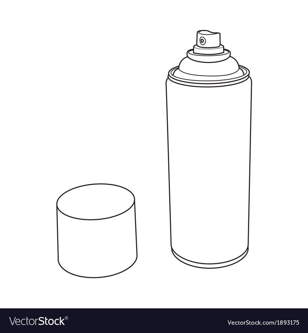 Spray paint can outline vector | Price: 1 Credit (USD $1)