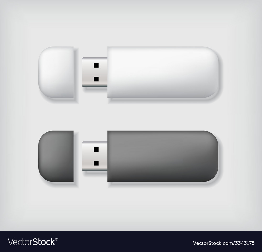 Two usb memory sticks mockup vector | Price: 1 Credit (USD $1)