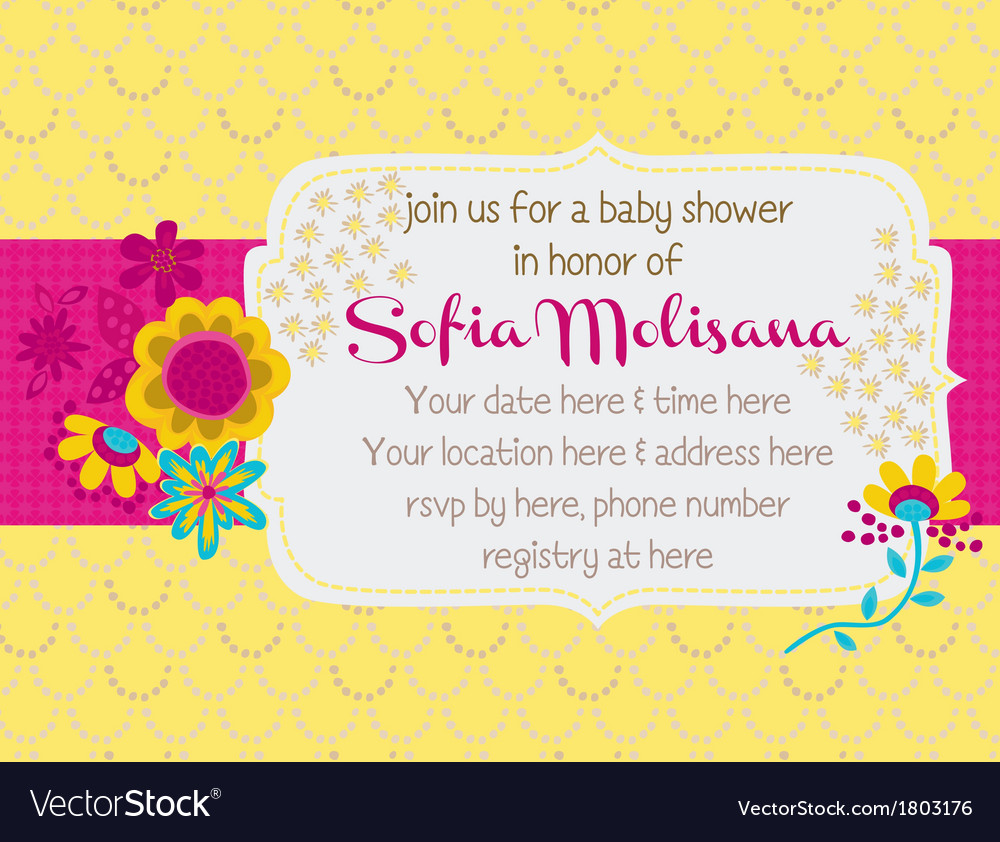 Babyshower bouquet vector