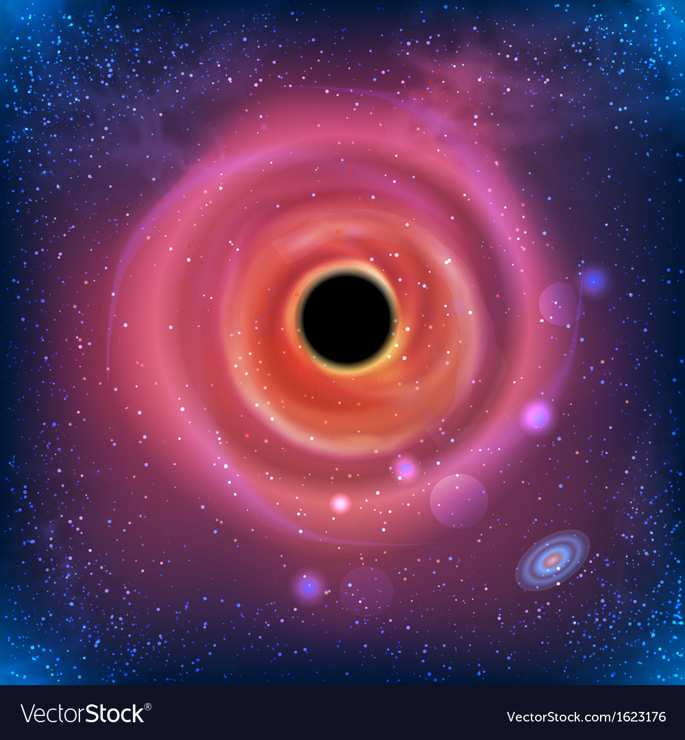 Beautiful glowing galaxy black hole vector | Price: 1 Credit (USD $1)