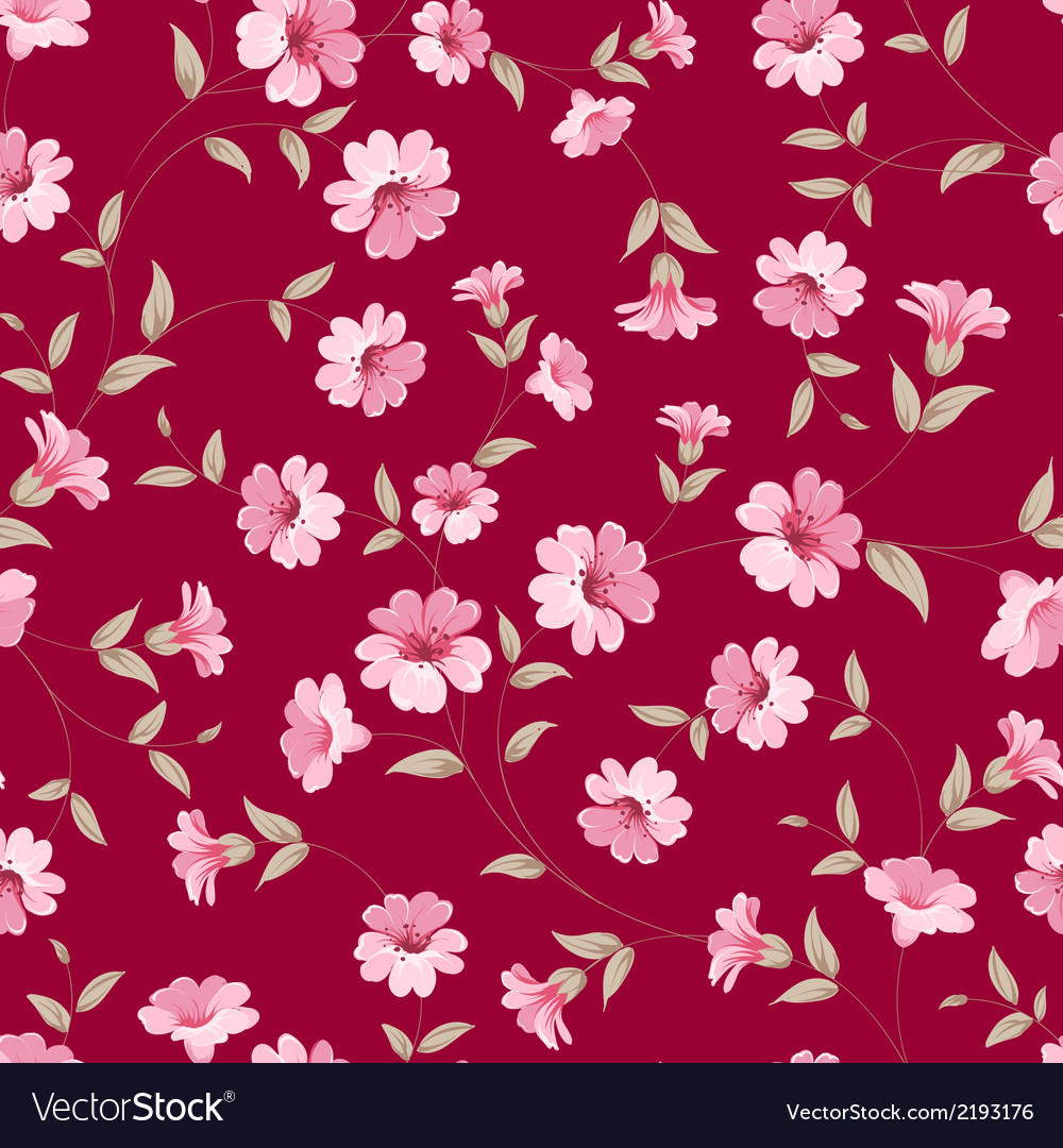 Flower samless pattern vector | Price: 1 Credit (USD $1)