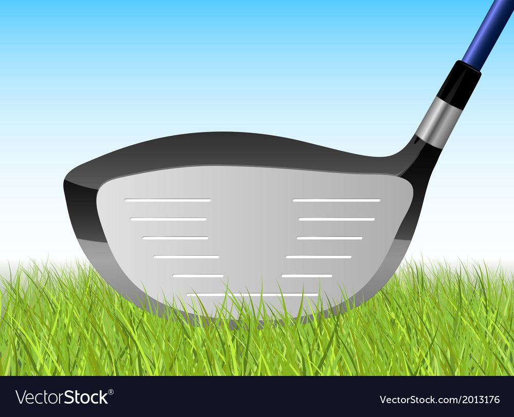 Golf grass driver vector | Price: 1 Credit (USD $1)