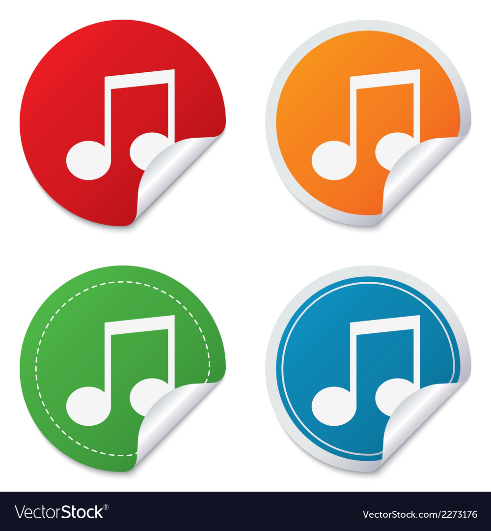 Music note sign icon musical symbol vector | Price: 1 Credit (USD $1)