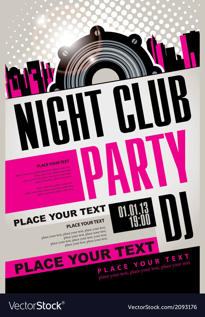 Night club vector | Price: 1 Credit (USD $1)