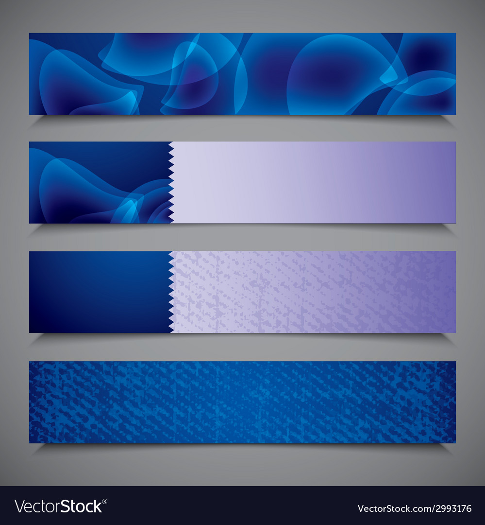 Set of abstract bright blue banners vector | Price: 1 Credit (USD $1)