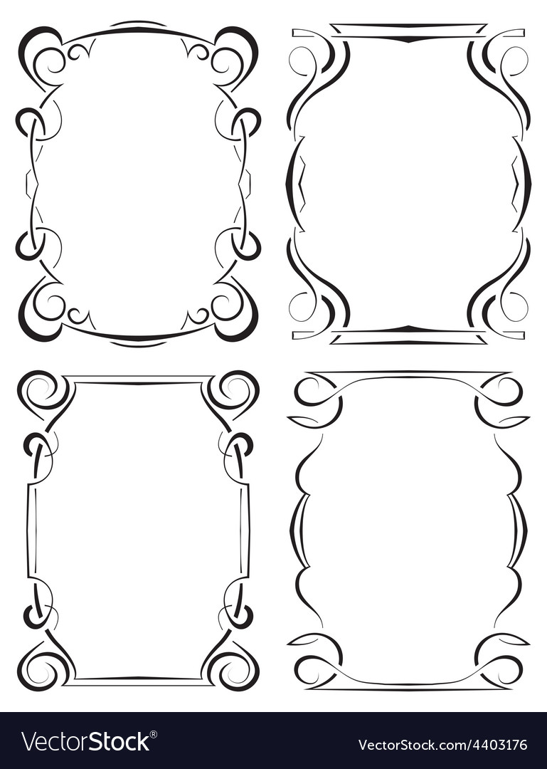 Set of four elegant framework vector | Price: 1 Credit (USD $1)