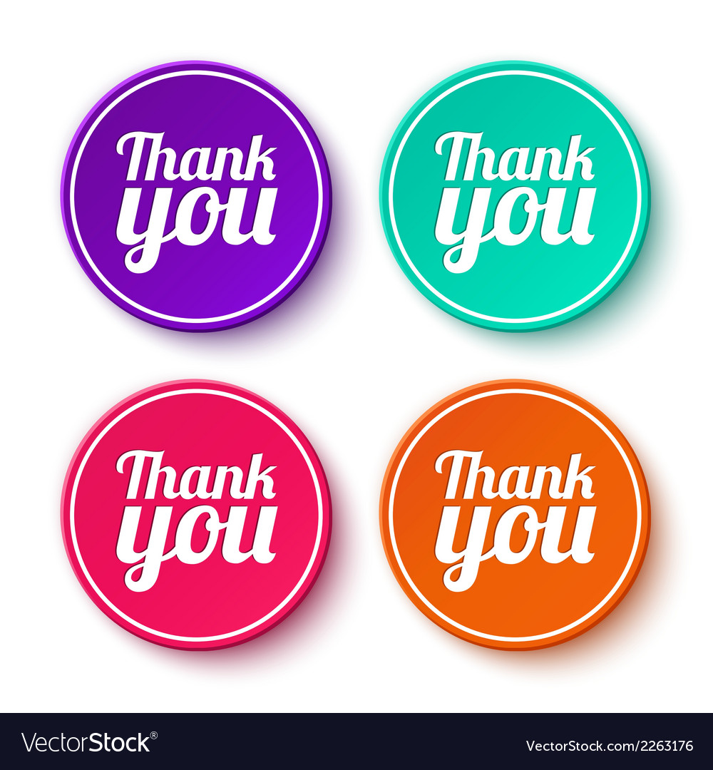Set of thank you stickers labels vector | Price: 1 Credit (USD $1)