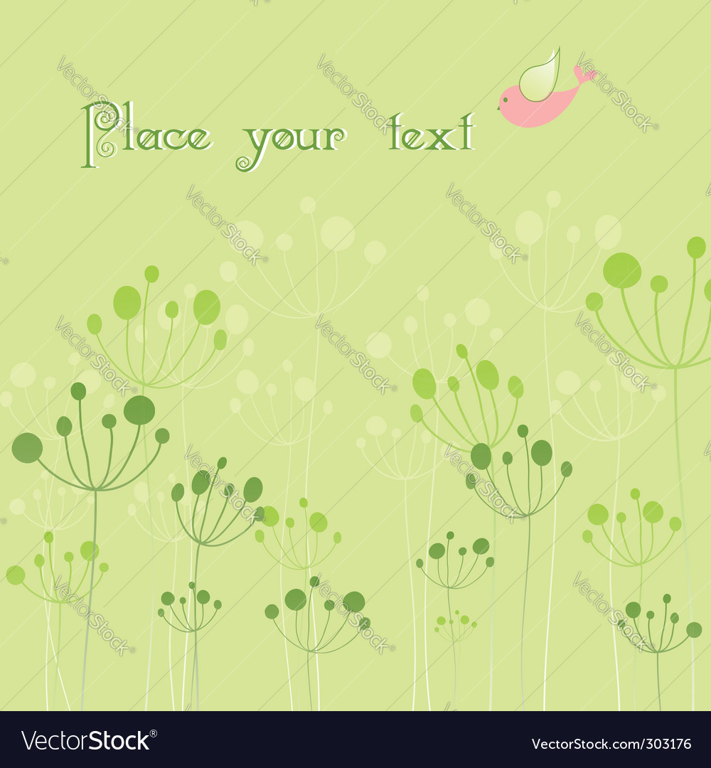 Springtime colorful bird flora vector | Price: 1 Credit (USD $1)