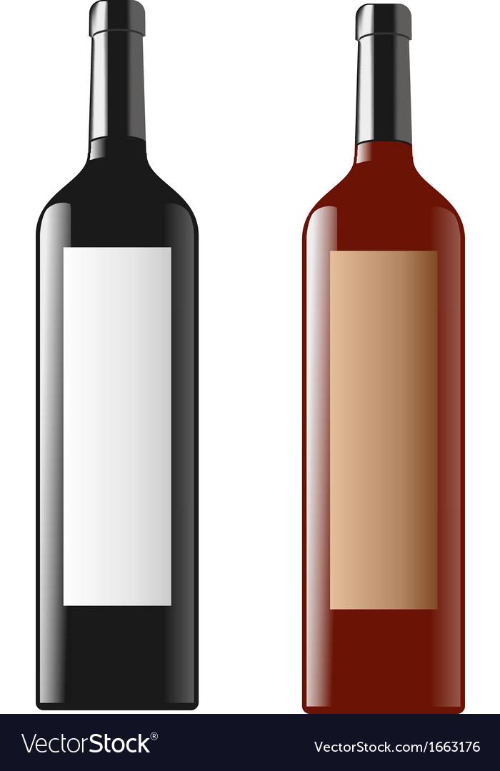 Wine bottle vector | Price: 1 Credit (USD $1)
