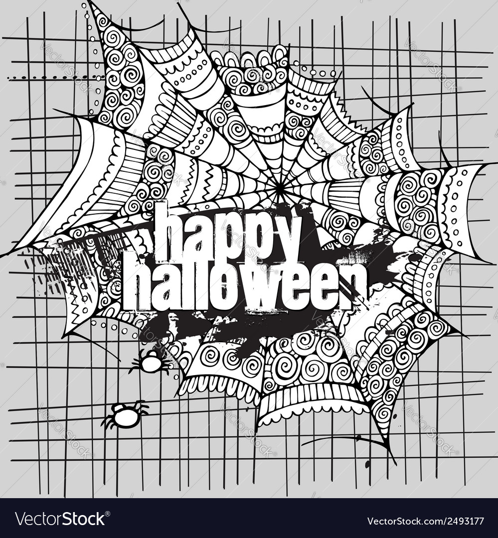 Abstract halloween grunge design card vector | Price: 1 Credit (USD $1)