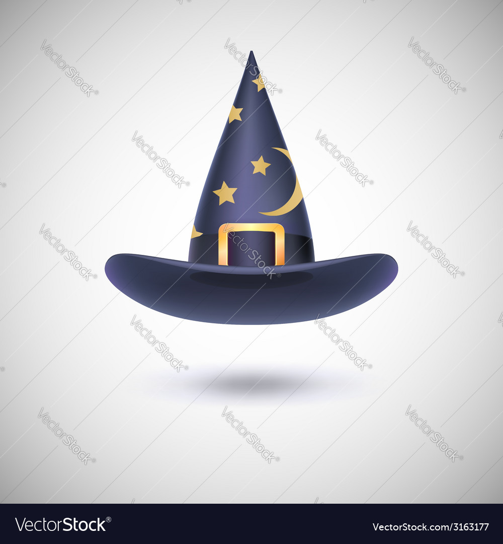 Black witch hat for halloween vector | Price: 1 Credit (USD $1)