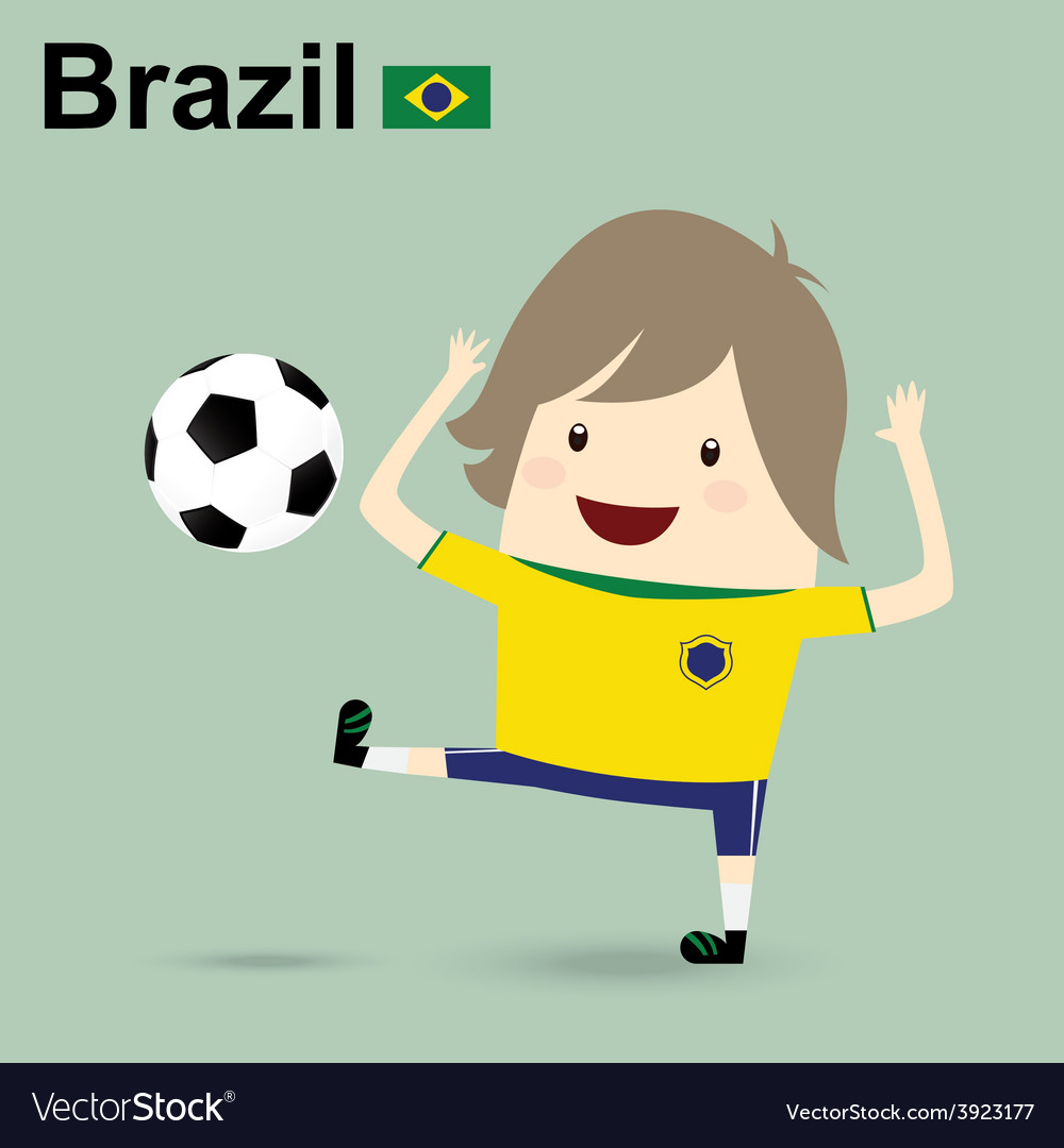 Brazil national football team businessman happy is vector | Price: 1 Credit (USD $1)