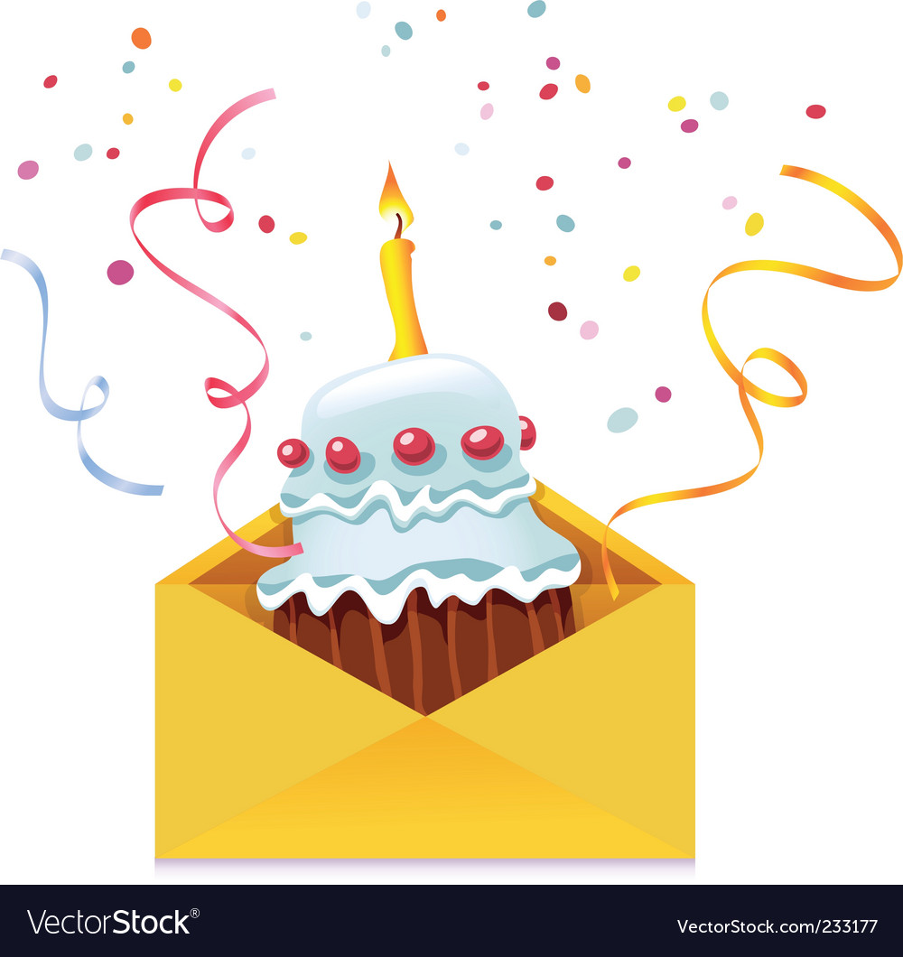 Cake in envelope vector | Price: 3 Credit (USD $3)