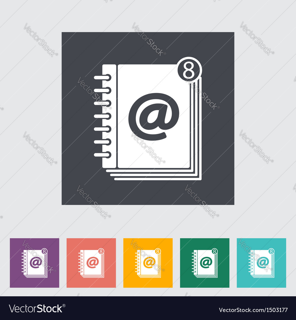 Contact book 2 vector | Price: 1 Credit (USD $1)