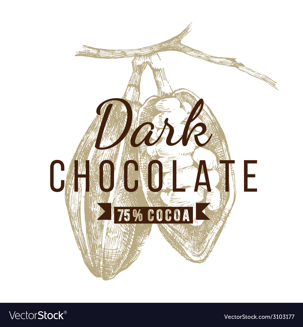 Dark chocolate logo template vector | Price: 1 Credit (USD $1)