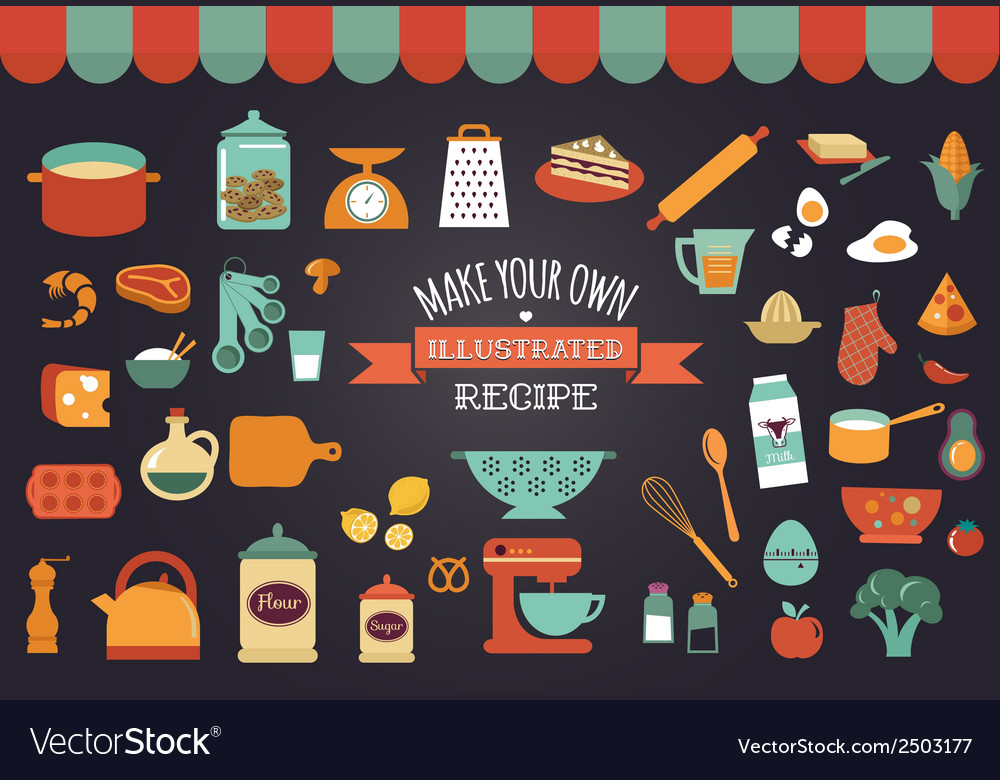 Food and cooking icons vector | Price: 1 Credit (USD $1)