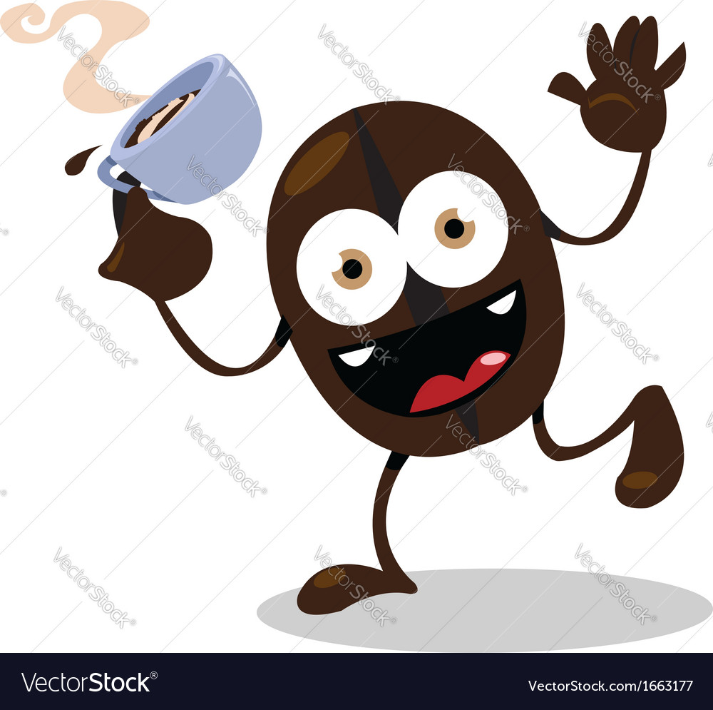 Funny coffee bean vector | Price: 1 Credit (USD $1)