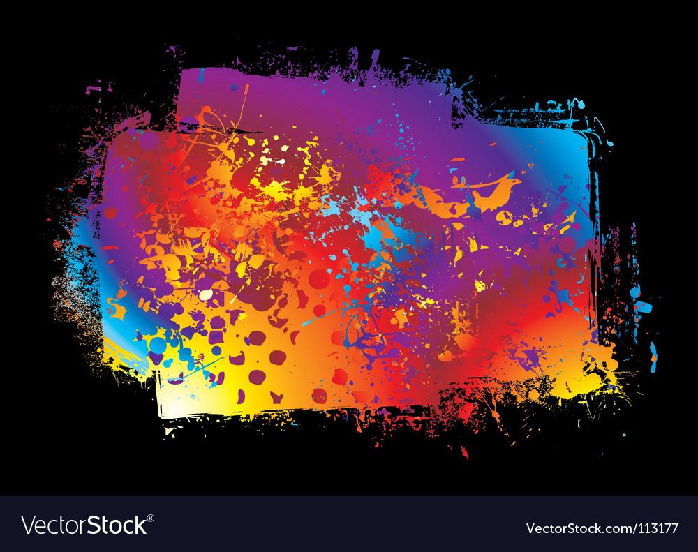 Grunge rainbow banner vector | Price: 1 Credit (USD $1)