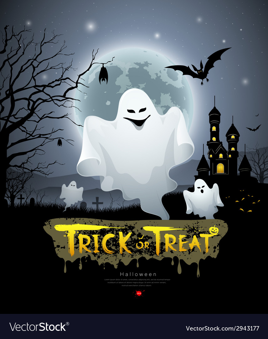 Happy halloween ghost vector | Price: 3 Credit (USD $3)