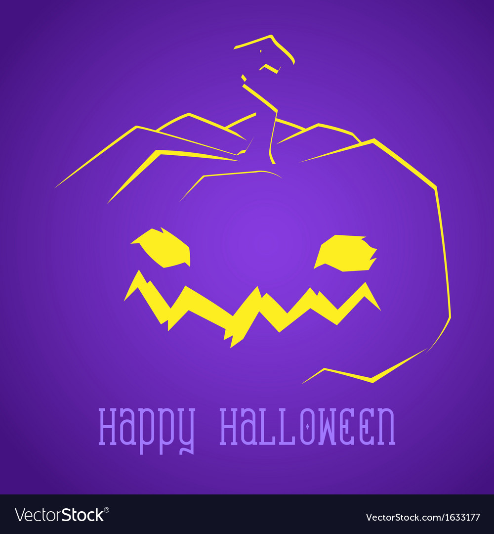 Happy halloween smiley pumpkin vector | Price: 1 Credit (USD $1)
