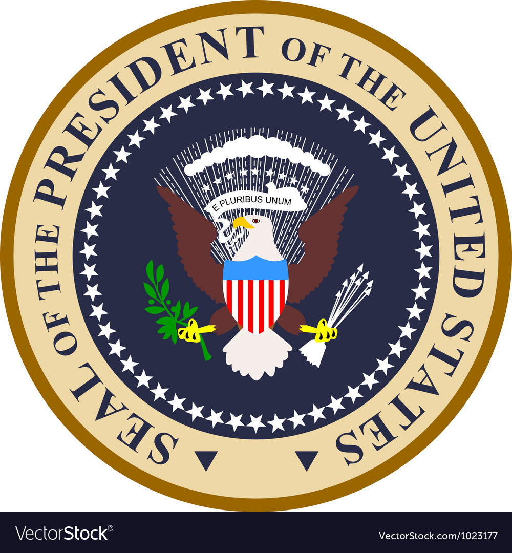 Seal of the president of the united states of vector | Price: 1 Credit (USD $1)