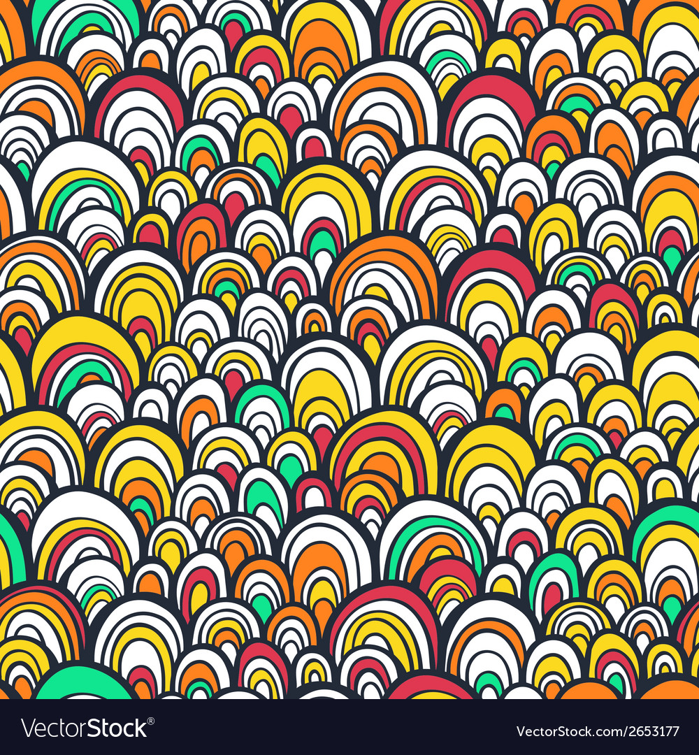 Seamless pattern with colorful abstract scale vector | Price: 1 Credit (USD $1)