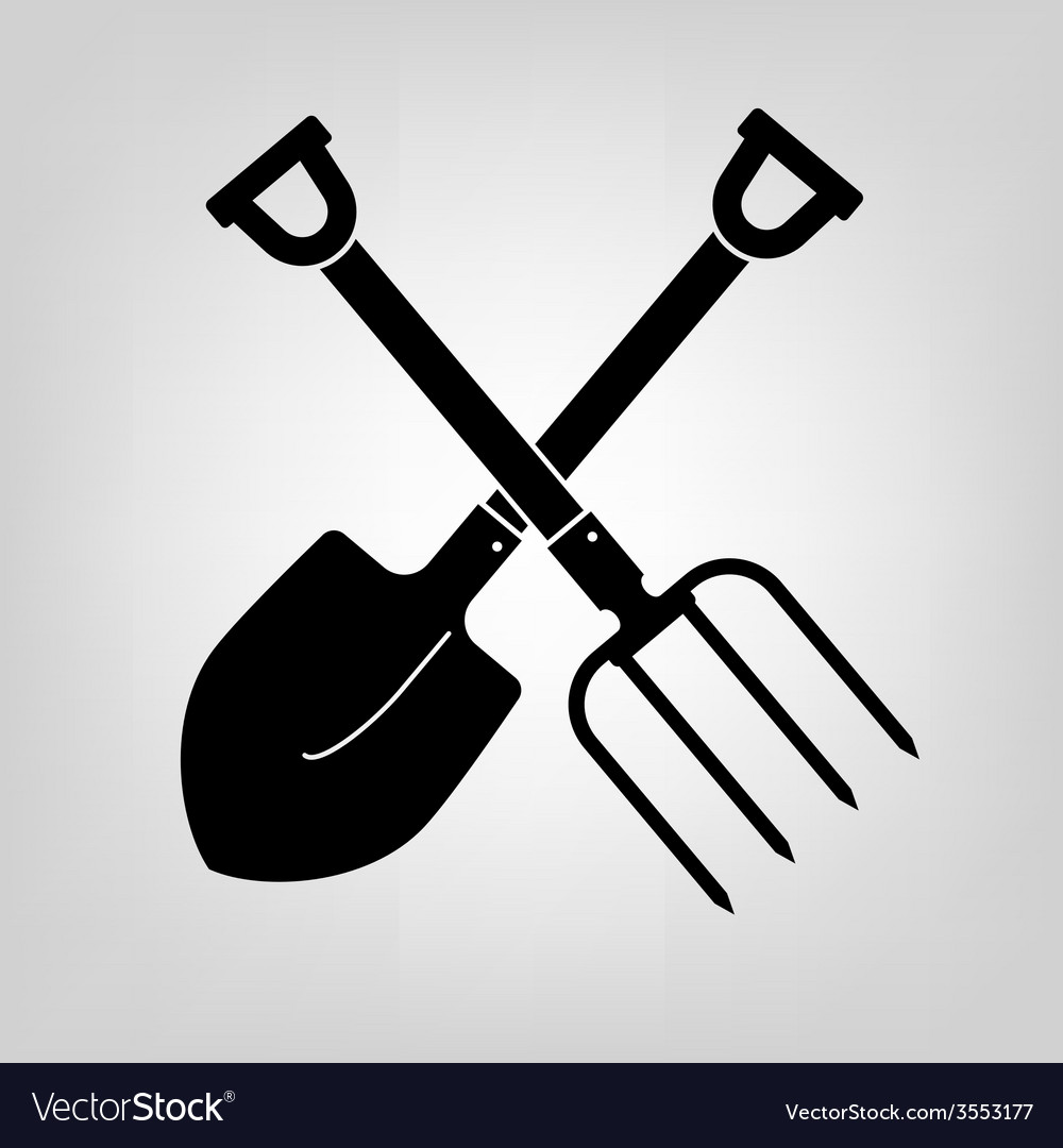 Shovel and pitchfork icon vector | Price: 1 Credit (USD $1)