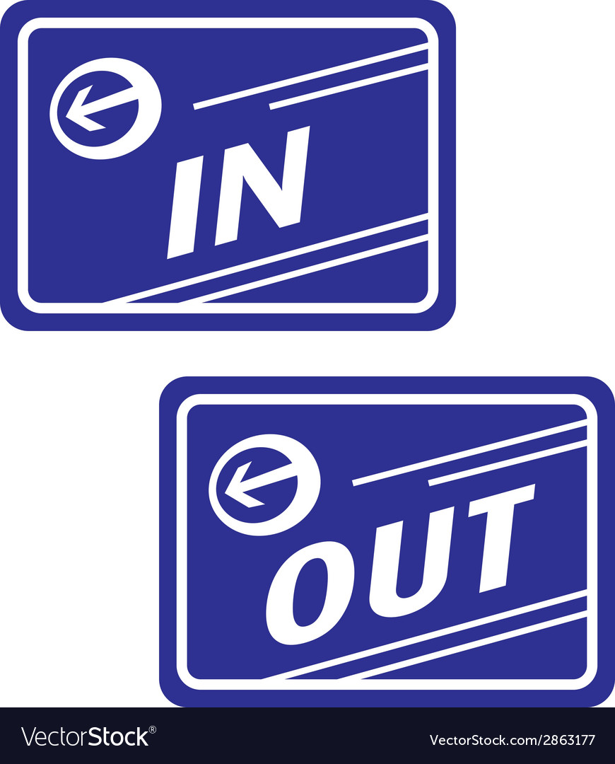 Sign in and out vector | Price: 1 Credit (USD $1)