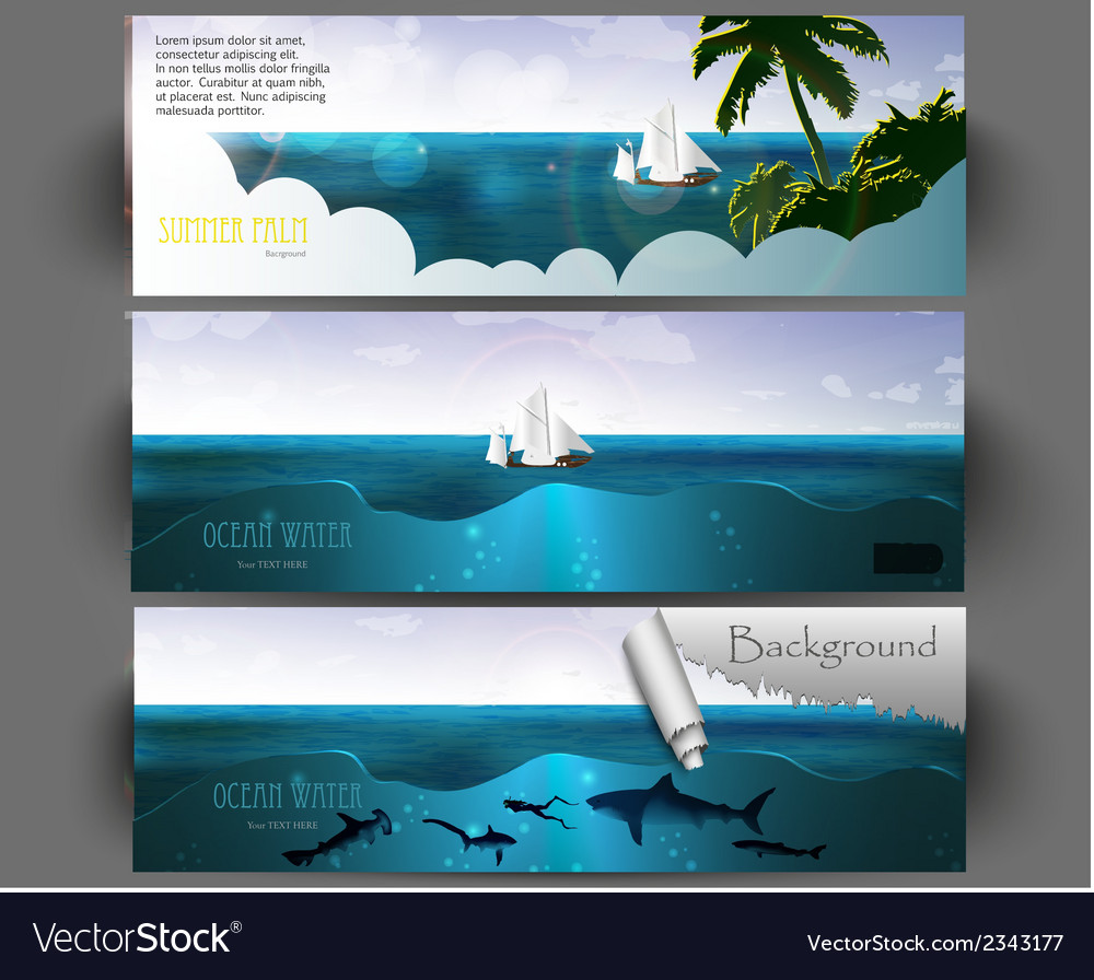 Summer holiday web and print template vector | Price: 1 Credit (USD $1)