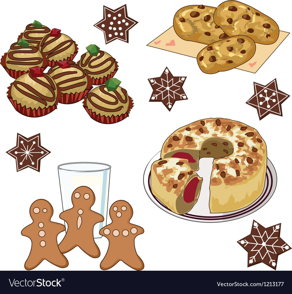Xmas cookies vector | Price: 1 Credit (USD $1)