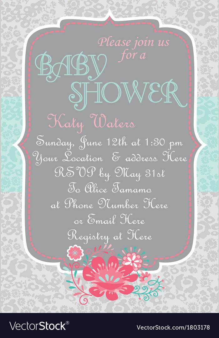 Baby-shower countrychic vector | Price: 1 Credit (USD $1)