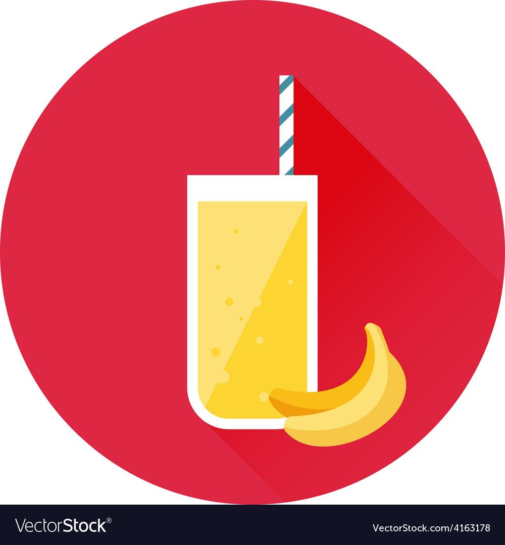 Banana juice icon vector | Price: 1 Credit (USD $1)