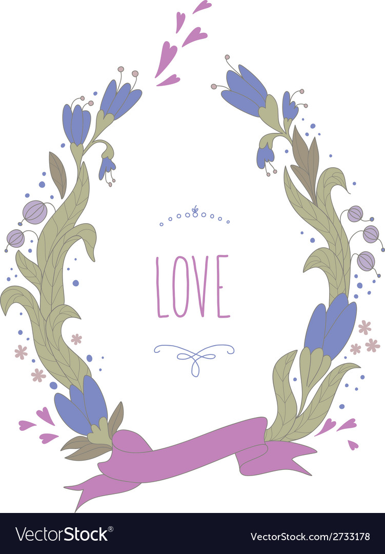 Beautiful summer wreath vector | Price: 1 Credit (USD $1)