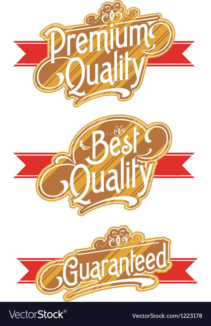 Decorative text banner vector | Price: 1 Credit (USD $1)