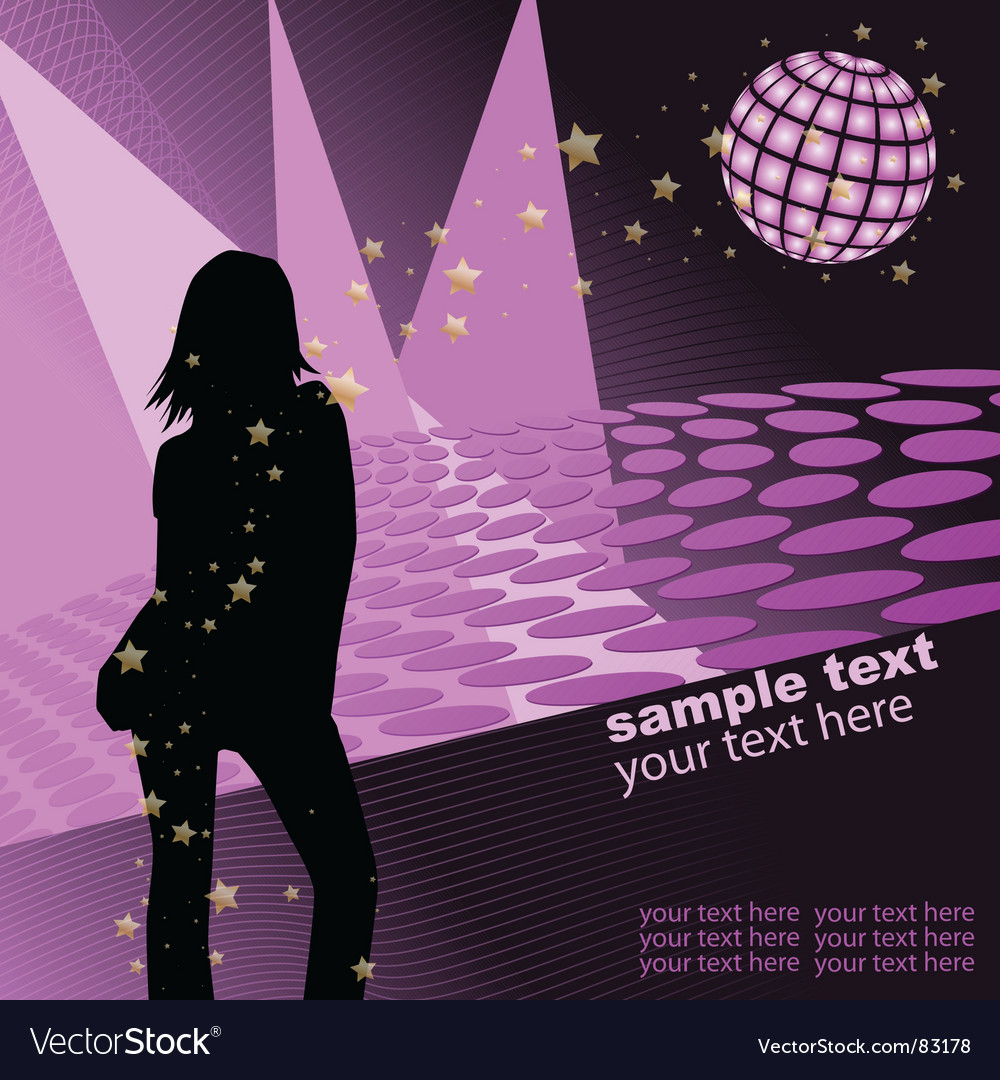 Disco template vector | Price: 1 Credit (USD $1)