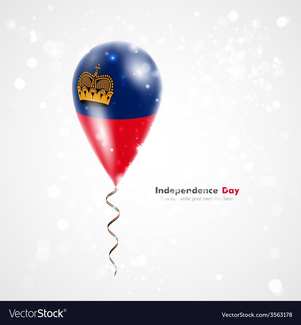 Flag of liechtenstein on balloon vector | Price: 1 Credit (USD $1)
