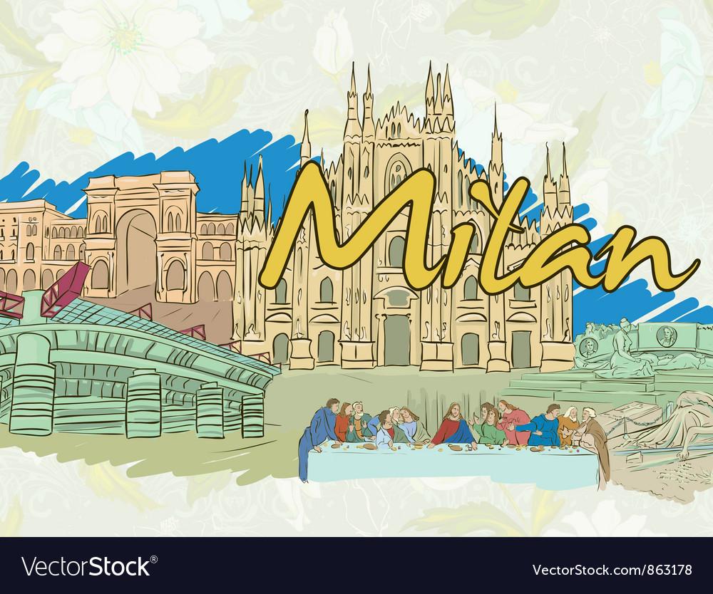 Milan doodles vector | Price: 3 Credit (USD $3)