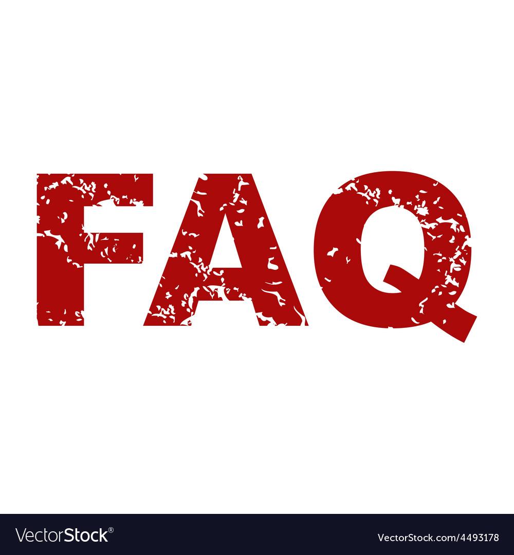 Red grunge faq logo vector   Price: 1 Credit (USD $1)