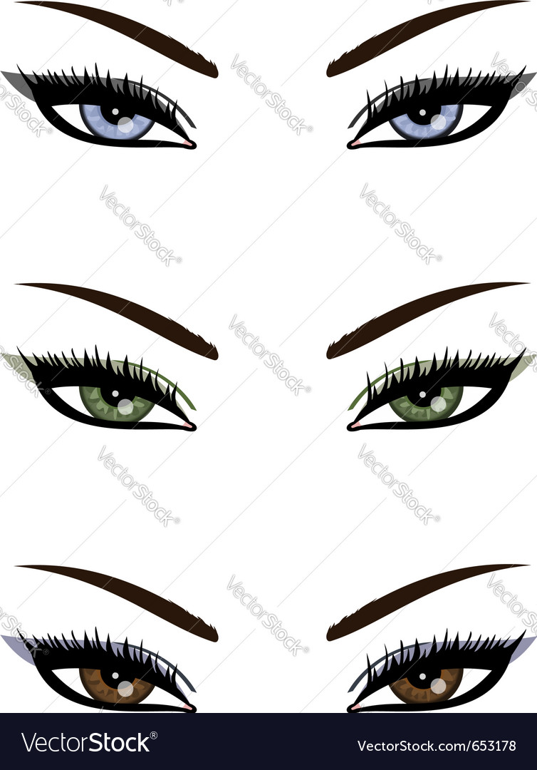 Sexy eyes collection vector | Price: 1 Credit (USD $1)