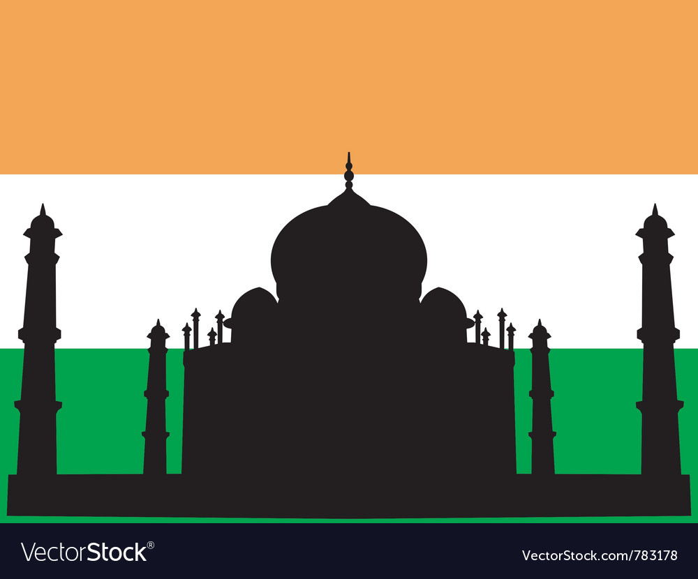 Silhouette of taj mahal vector | Price: 1 Credit (USD $1)