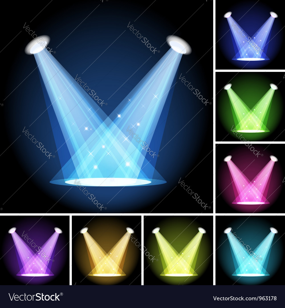 Stage light vector | Price: 1 Credit (USD $1)