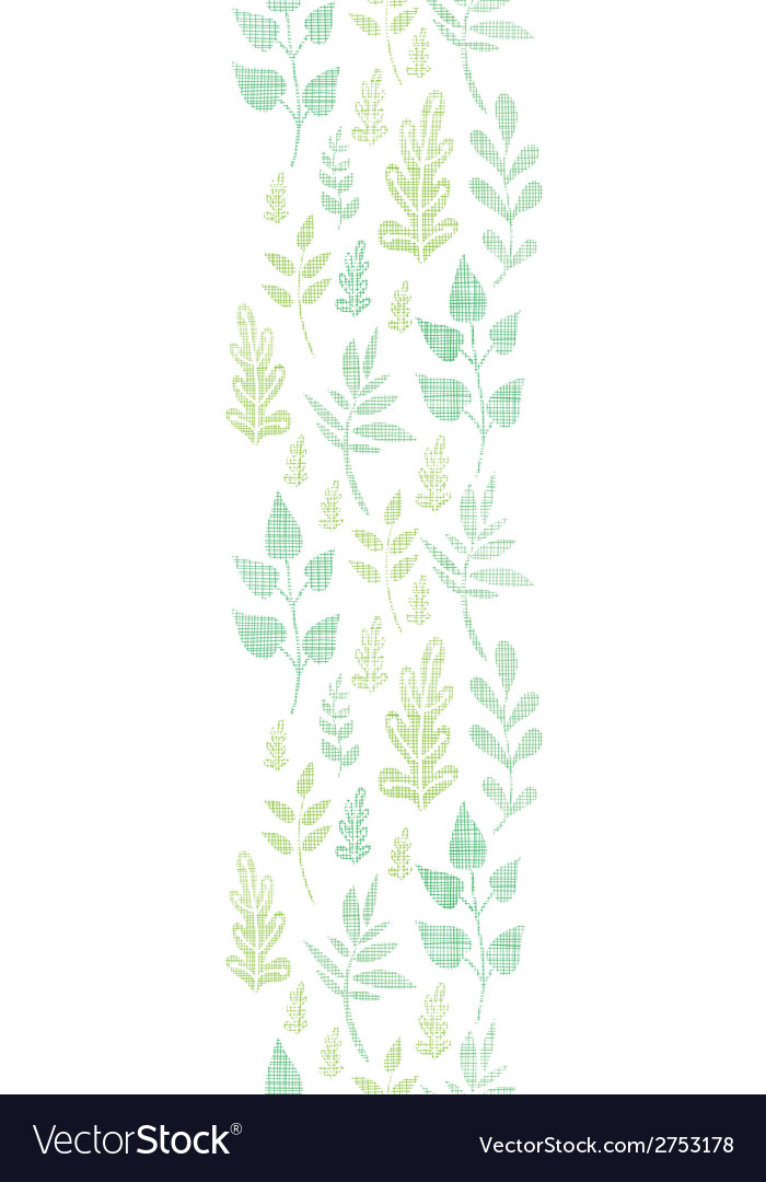 Textile textured spring leaves vertical border vector   Price: 1 Credit (USD $1)